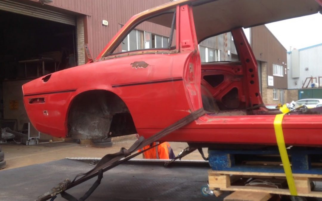 Triumph Stag – Breaking down Part Four – Shotblast Arrival!